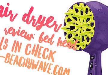 bed head curls in check hair dryer review