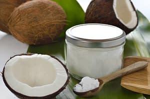 Coconut oil can make a great treatment for shiny hair and a healthy scalp